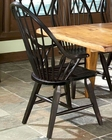 Intercon Black Arm Chair Rustic Traditions INRTCHN1408A (Set of 2)