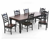 Intercon Dining Set with 24in Leaf Hillside Village INHV-4296TURN-SET