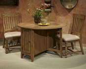 Intercon Dining Set w/ Round Table Rhone INRH-TA-4848D-BAL-SET