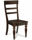 Intercon Ladder Back Side Chair Bridgeport INBR1295W (Set of 2)