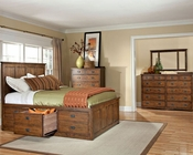 Intercon Set w/ 3 Drawer Storage Bed Oak Park IN-OP-BR-5850-3SET
