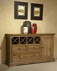 Intercon Sideboard w/ Wine Storage Rhone INRH-CA-6318-BAL-C