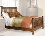 Intercon Slat Bed Oak Park IN-OP-BR-5825BED