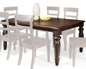 Intercon Solid Birch Dining Table Bridgeport INBR4296TAB