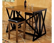 Intercon Solid Hardwood Breakfast Bar Set Siena INSN4832FSET