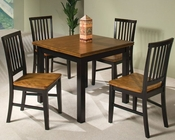 Intercon Solid Hardwood Dining Set Siena INSN3664SET