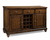 "Intercon Solid Mango Wood 58"" Server Kingston INKG5836"