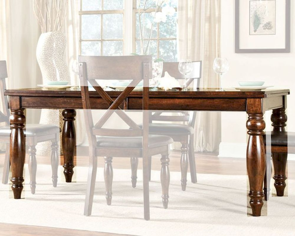 Intercon Solid Mango Wood Dining Table Kingston INKG4290BTAB