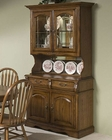"Intercon Solid Oak 42"" Buffet and Hutch Classic Oak INCO2250BH"