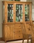 Intercon Solid Oak Buffet/ Hutch Highland Park INHP6034-6048