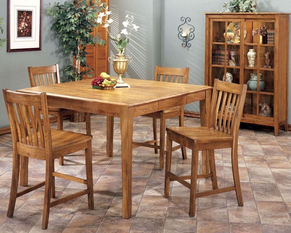 Counter Height Dining Table With Cherry Wood Base Standard  : intercon solid oak counter height dining set cambridge incb5454gset 15 from 50han.com size 1000 x 800 jpeg 185kB