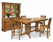 Intercon Solid Oak Counter Height Dining Set Classic Oak INCOI4078SET