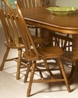 Intercon Solid Oak Detailed Arrow Back Side Chair INCO247SH (Set of 2)