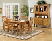 Intercon Solid Oak Dining Set Cambridge INCB4278SET
