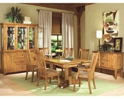 Intercon Solid Oak Dining Set Highland Park INHP4296SET