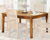 Intercon Solid Oak Dining Table Cambridge INCB4278TAB