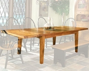 Intercon Solid Oak Dining Table Rustic Traditions INRT44108STAB
