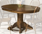 Intercon Solid Oak Pedestal Dining Table Classic Oak INCOI4260TAB