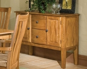 Intercon Solid Oak Server Highland Park INHP4248