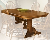 Intercon Solid Oak Trestle Dining Table Classic Oak INCOI4296TAB