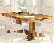 Intercon Solid Oak Trestle Dining Table Highland Park INHP4296TAB