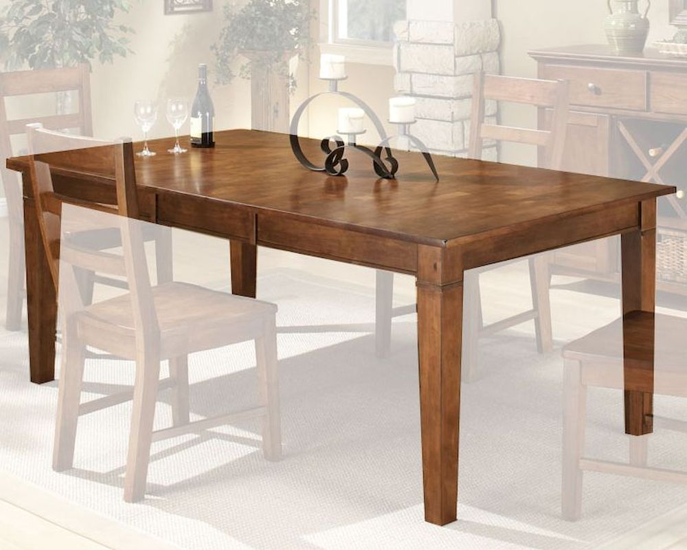 Rubberwood Kitchen Table Intercon Solid Rubberwood Dining Table Scottsdale Insc4278tab
