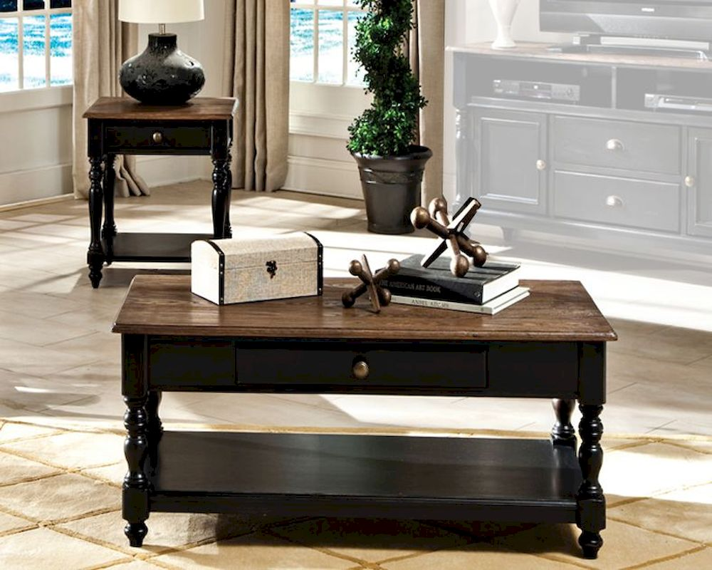 Black coffee table set - Intercon Solid Wood Coffee Table Set Gramercy Park Ingpta4824set