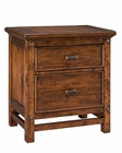Intercon Two Drawer Night Stand Wolf Creek INWK-BR-6102-VAC-C