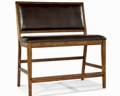 *Intercon Upholstered Back Bench Santa Clara INSTBS280CB