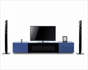 iPhone/ iPad Dock Ready Glass TV Center in Modern Style 44ENT4312