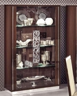 Italian 2 Glass Door Curio in Walnut Roma 33229RO