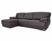 Italian Brown Leather Sectional Sofa 44L6112-G