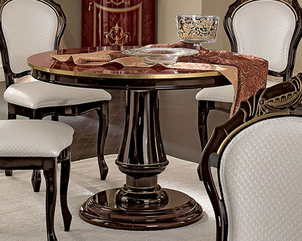 Mahogany Round Dining Table With Leaves