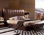 Italian Classical Design Leather Platform Bed 44B167BD