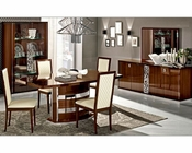 Italian Dining Room Set in Walnut Roma 3323RO