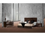 Italian Lacquer Ebony Bedroom Set w/ Silver Accent 44B115SET