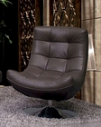 Italian Leather Chair in Grey Color ESF6001C