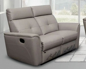 Italian Leather Loveseat in Modern Style ESF8501L