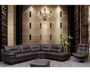Italian Leather Sectional Set in Grey Color ESF6001SET
