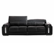 Italian Leather Sofa in Black ESF2992S