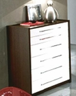 Italian Modern Two Tone 6 Drawer Chest 33B227