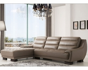 Italian Sectional Set in Dark Beige Color ESF6082