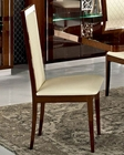 Italian Side Chair in Walnut Roma 33222RO (Set of 2)