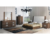 European Style Deluxe Bedroom Set in High Gloss 33B631