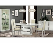 Italian White Dining Room Set Roma 3323RM