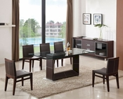 J&M Elegance Dining Set & Elegance Chairs JM-SKU17814SET