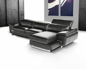 J&M Italian Leather Sectional Oregon I JM-SKU17786
