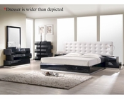 J&M Milan Bedroom Set in Black JM-SKU176871SET