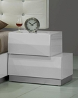 J&M Milan Nightstand in White JM-SKU17687NST