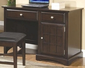 Jasper Single Pedestal Desk with Beveled Drawers CO400757